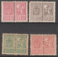 Romania Statistics Revenues Barefoot #13//19 4 mint double stamps 1945 cv $32