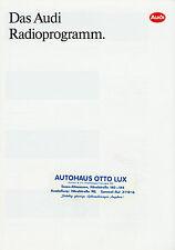Prospekt Audi Radioprogramm 1/92 Autoprospekt 1992 alpha beta gamma CC CD Bose