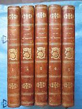 RAGUSE : VOYAGE EN HONGRIE, TRANSYLVANIE, RUSSIE, SICILE..., 1837. 5 volumes.