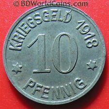 1918 COBLENZ 10 PFENNIG NOTGELD SHARP DETAILS IRON MAGNETIC RARE GERMAN 20mm