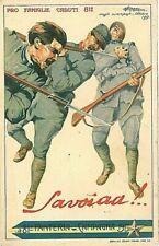 Cartoline militari di illustratori da collezione