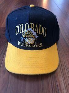 Vintage University of Colorado Buffaloes Snapback Cap Hat 90s VTG