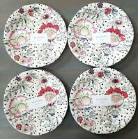 NWT Vera Bradley 4PC Blush Floral Accent Plates- Set of 4; 8.5″ Melamine Dessert