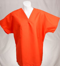 Halloween ORANGE Reversible Unisex Scrub Top S SMALL Medical Nursing Scrubs  NEW