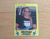 Hulk Hogan WWF WCW WWE HOFer 1986 Monty Gum Wrestling Card #87