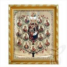Ikone Baum von Heiliger GM Holz 21x18 Древо Пресвятой Богородицы икона