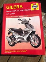 GILERA RUNNER, DNA, ICE & SKP/STALKER 1997 TO 2007 HAYNES SCOOTER MANUAL 4163