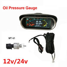 Car Truck Oil Pressure Gauge Engine Oil Pressure Meter Monitor Display Sunshield