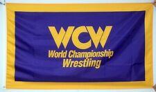 WCW World Championship Wrestling Flag 3x5 Purple WWF WWE Banner  US Shipper