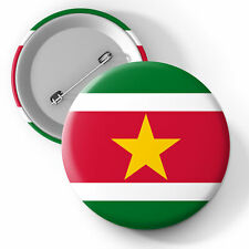 Suriname National Flag Button Pin Badge 25mm 45mm 58mm Badge, Flags, Suriname