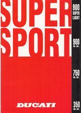Ducati 900 Superlight 900 Supersport 750 SS 350 SS Originalprospekt brochure