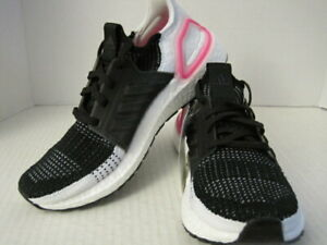Adidas Womens UltraBOOST 19 Running Shoes Size 7.5  Black White Pink EF1625