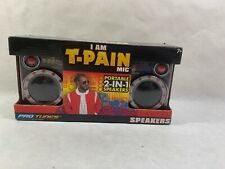 I Am T-Pain Mic Portable 2-In-1 Speakers Pro Tunes New