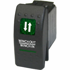 Rocker switch 553GM 12V Winch in and out MOMENTARY GREEN