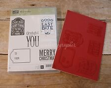 "New Stampin' Up ""Merry Everything"" Cling Foam Stamp Set"