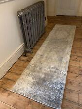 Grey/Silver Runner Rug 60cm x 230cm