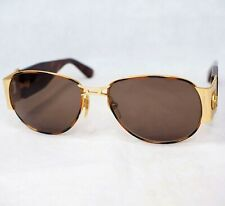 Gianni Versace S66 sunglasses brown gold vintage oval medusa head large unisex