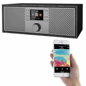 Web-Radio: Stereo-WLAN-Internetradio mit Farb-Display, 12 Watt, Bluetooth 5, App