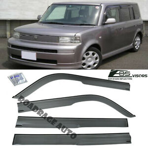 For 04-07 Toyota bB Scion xB JDM Smoke Tinted Side Vents Window Rain Deflectors