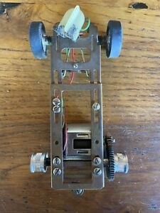 VINTAGE 1/24 SLOT CAR BRASS & ALLOY CHASSIS