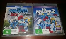 *New & Sealed* The Smurfs 3D + The Smurfs 2 in 3D + 2D + UV (Blu Ray, Reg B AUS)