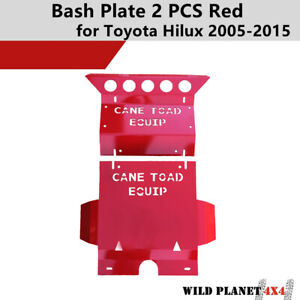 Red Bash Plate for Toyota Hilux 2005-2015 SR SR5  Front Sump Guard 3mm 2PCS