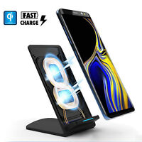 Qi Wireless Fast Charger Rapid Charging Pad Stand Dock For Samsung Galaxy Note 9