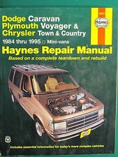 DODGE CARAVAN, PLYMOUTH VOYAGER, CHRYSLER TOWN & COUNTRY 1984 - 1995 MANUAL
