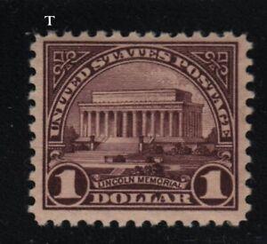 1917 Sc 571 $1 MNH FVF pf 11 single  CV $75