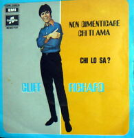 "CLIFF RICHARD  SING IN ITALIAN  7"" CHI LO SA'  ( ON THE BEACH)  ITALY 1969"
