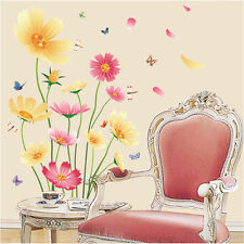 Blooming Flowers Room Decor Removable Wall Sticker Decal Decoration Wandtattoo