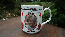 1995 Visit of Diana Princess of Wales to Japan China Mug  Only 50 Made