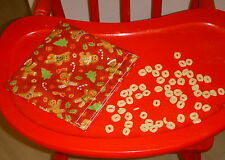Reusable Snack Sandwich Food Storage Bag Small Objects Pouch Gingerbread Men