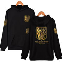 Attack On Titan Survey Legion Eren Wings Hoodie Pullover SweatShirt Cosplay Coat