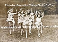 Old/Vintage Cute/Adorable Little Ballerina/Ballet Girls Dancing Hoop 1920s Photo