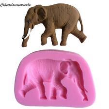 3d Elefanti animali Fondant stampo in silicone glassa Torta Decorazione cioccolato fimo