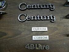 1978-1981 buick century v8 Emblem-set desde el Custom-modelo,! bien!