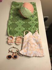American Girl Molly/'s 1934 Swimsuit Swim Suit NIB NRFB Ball Towel Shoes Glasses