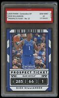 2020 ZION WILLIAMSON PANINI CONTENDERS PROSPECTS TICKET 1ST GRADED 10 PELICANS