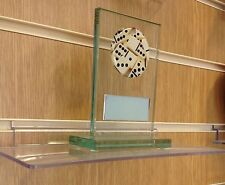 Glass Dominoes Trophy award. Free Engraving