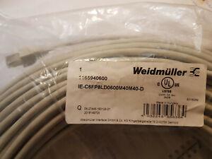 Weidmüller RJ45 Netzwerk Anschlusskabel CAT 6a S/FTP 60 m Grau UL-zertifiziert