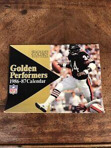Vintage NFL Golden Performers Football Calendar Walter Payton 1986-87 SEAGRAMS