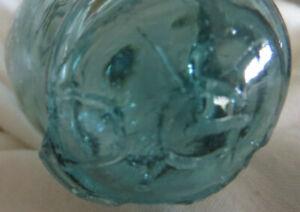 "Japanese Blown Glass Float 5"" Roller WP #134 'DG' Tiny Hokkaido Rolling Pin Vntg"