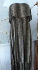 Melissa Odabash cheetah maxi dress L jersey strapless beach kaftan gown NEW