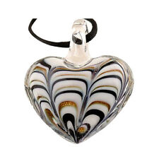 1pc Elegant Fashion heart lampwork art glass Charm beaded pendant necklace W3X8