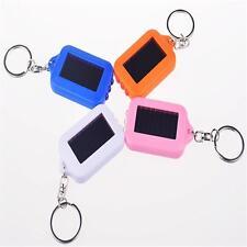 1 Pcs Mini Solar Power Rechargeable 3 LED Flashlight Portable Keychain Torch T(