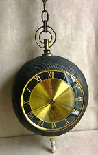 Stunning ARTCO Spherical Hanging Clock Large Wooden 8-Day w/Key Сhain Germany