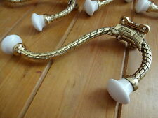 2 COAT HOOKS BRASS LARGE VICTORIAN STYLE