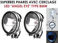 2 SUPERBES PHARES 16CM HALOGENE + CERCLAGE LED! ROBUSTES SPECIAL 4X4