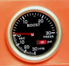 52mm Smoked Face Turbo Boost gauge psi Seat Leon Ibiza Cupra Cordoba
